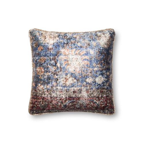 Loloi Multicolor 18 In. Pillow with Poly Fill