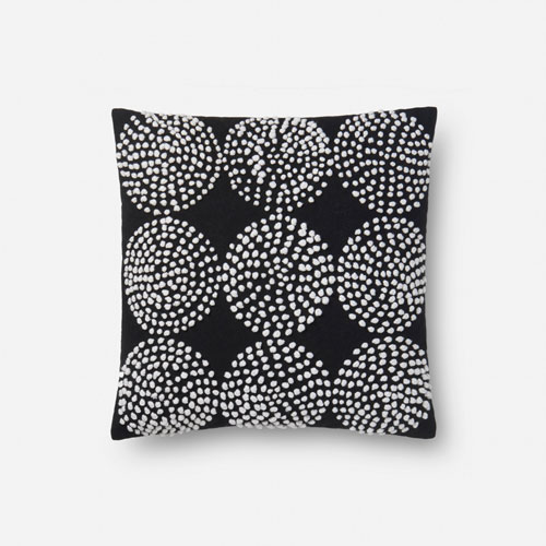 Black 18 In. Pillow with Poly Fill
