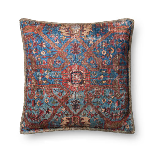 Loloi Multicolor 22 In. Pillow with Poly Fill