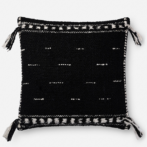Black 22 In. x 22 In. Throw Pillow