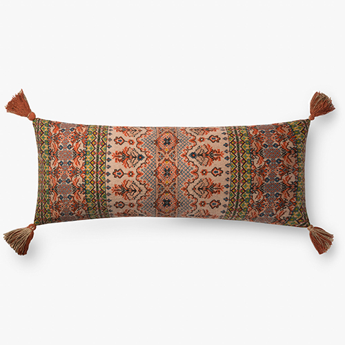 Multicolor 13 In. x 35 In. Throw Pillow with Poly Fill