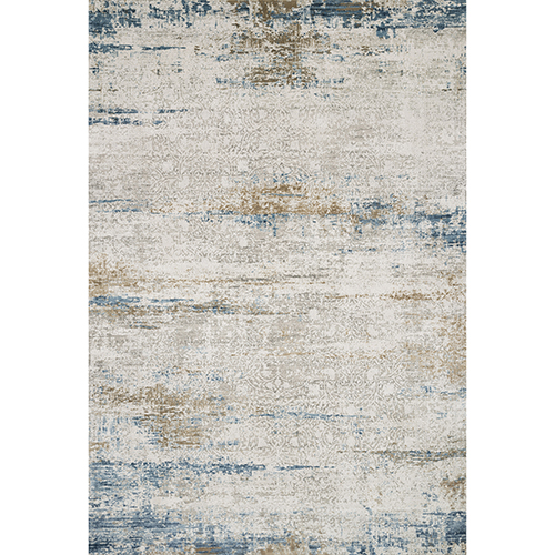 Sienne Ivory and Azure Runner: 2 Ft. 7 In. x 8 Ft. Rug