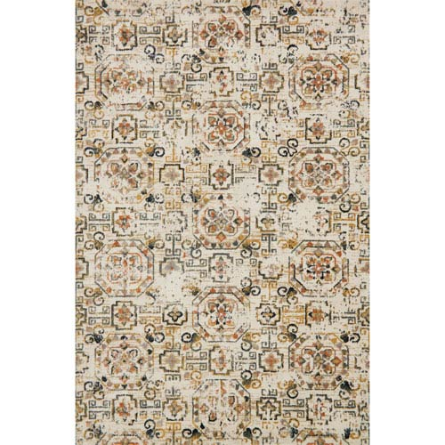 Loloi Torrance Ivory and Taupe Rectangular: 2 Ft. 7-Inch x 4 Ft. Rug