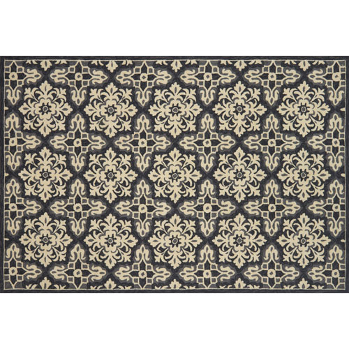 Loloi Venice Beach Ivory and Grey Square: 1 Ft. 6 In. Indoor/Outdoor Rug