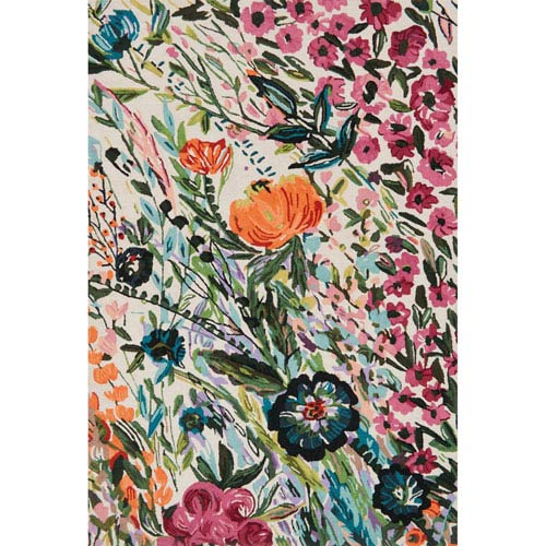 Wild Bloom Multicolor Square: 1 Ft. 6 In. x 1 Ft. 6 In. Rug