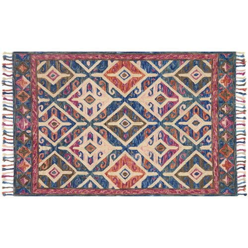 Loloi Zharah Multicolor Square: 1 Ft. 6-Inch x 1 Ft. 6-Inch