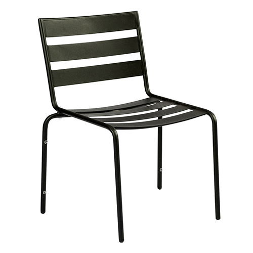 Metro Textured Black Iron Cafe Dining Side Chair