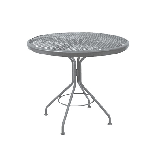 Mesh Top Iron Cafe 30 In. Round Dining Table