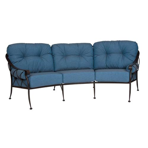 Woodard Derby Spectrum Denim Crescent Sofa