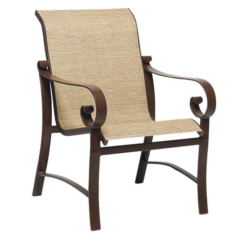 woodard belden sling current sisal dining arm chair 62h401 48 45d