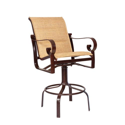 Belden Padded Sling Sultan Camel Swivel Bar Stool