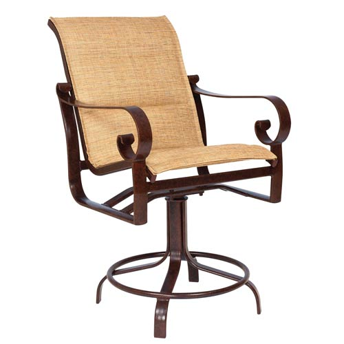 Belden Padded Sling Sultan Camel Swivel Counter Stool