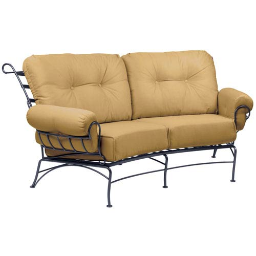 Terrace Canvas Wheat Crescent Love Seat