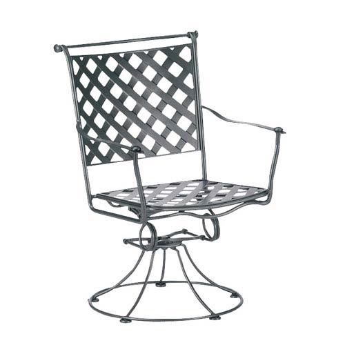 Maddox Textured Black Swivel Rocker Dining Arm Chair