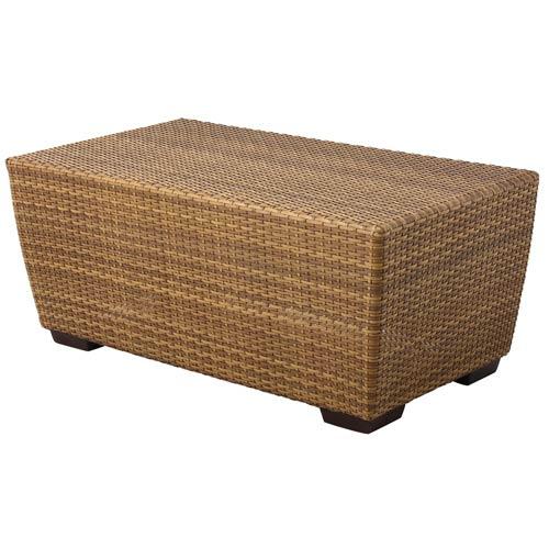 Woodard Saddleback Mocha Rectangular Coffee Table