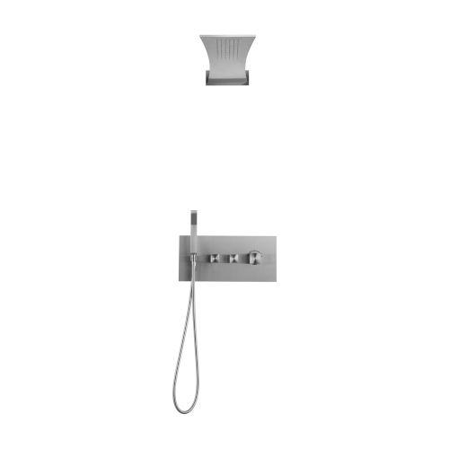 Boann Brushed Nickel Recessed Shower System
