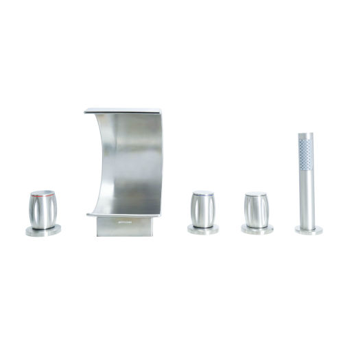 Abbey Brushed Nickel Roman Tub Filler with Hand Shower for Tub and Jacuzzi