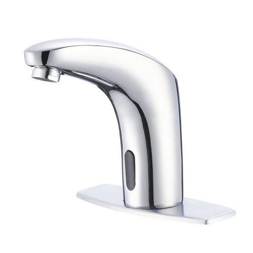 Polished Chrome Hands and Touch Free Motion Sensor Bathroom Faucet