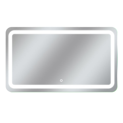 Egret Tri-Color Rectangular Silver 60-Inch LED Bathroom Mirror