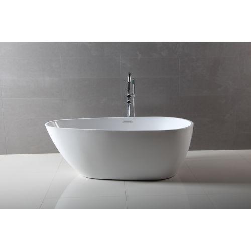 Maria Glossy White Freestanding Bathtub
