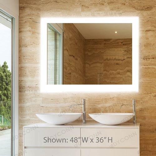 Dyconn Royal 48x36 Horizontal Wall Mounted Backlit Vanity Bathroom ...