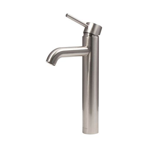 Dyconn Mystic Brushed Nickel Low Lead 12.5 Inch Modern Bathroom/Vessel/Bar Faucet