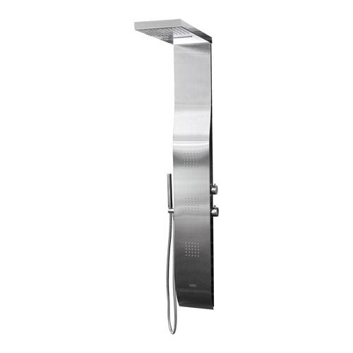 Stainless Steel Rainfall/Waterfall Shower Panel System with Hand Shower with 2 Sets of 25 Jets
