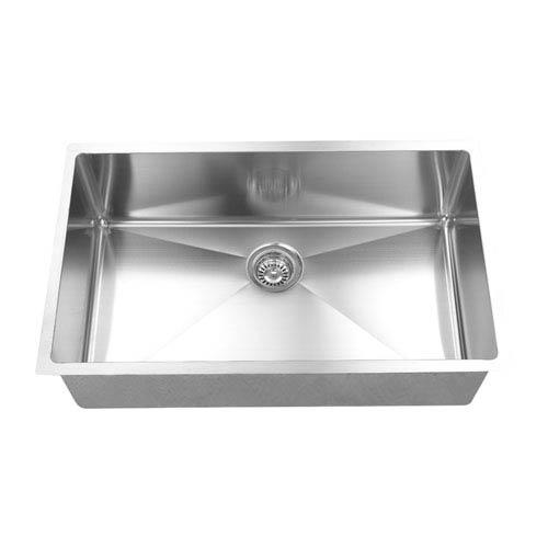 Boann Hand Made Stainless Steel Single Bowl Undermount Kitchen Sink