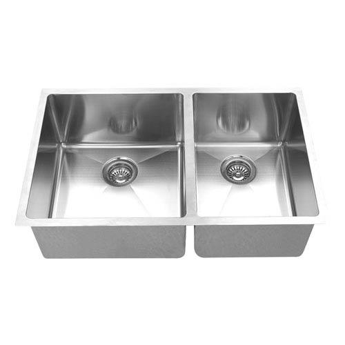 Boann Hand Made Stainless Steel 6040 Double Bowl Undermount Kitchen Sink