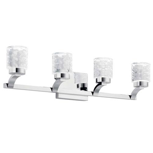 Elan Rene Chrome Four-Light LED Bath Vanity