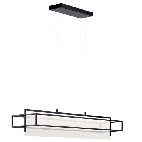 Vega Matte Black LED Pendant