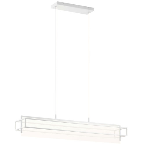 Vega White LED Mini Chandelier