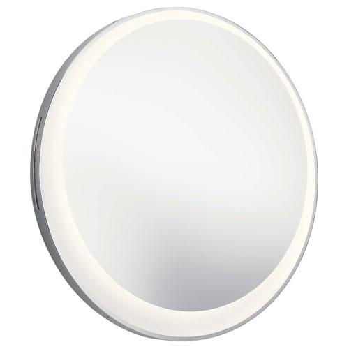 Matte Chrome LED Mirror