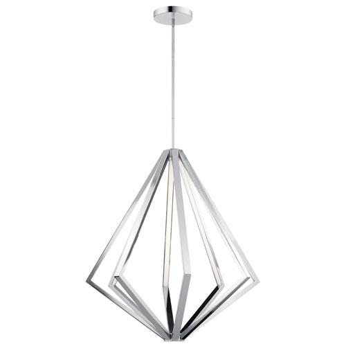 Elan Everest Chrome Eight-Light LED Chandelier