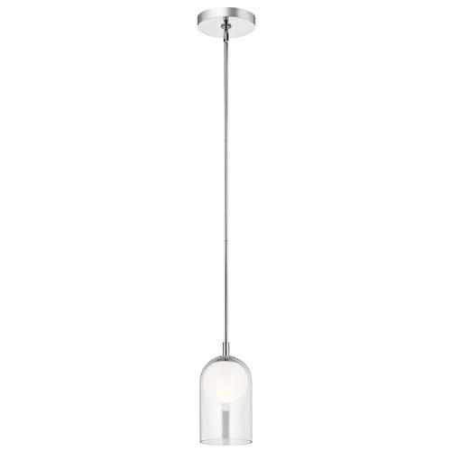 Beryl Chrome Six-Inch LED Mini Pendant