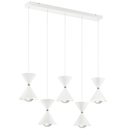 Kordan Matte White LED Mini Chandelier