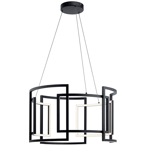Melko Black Nine-Light LED Pendant