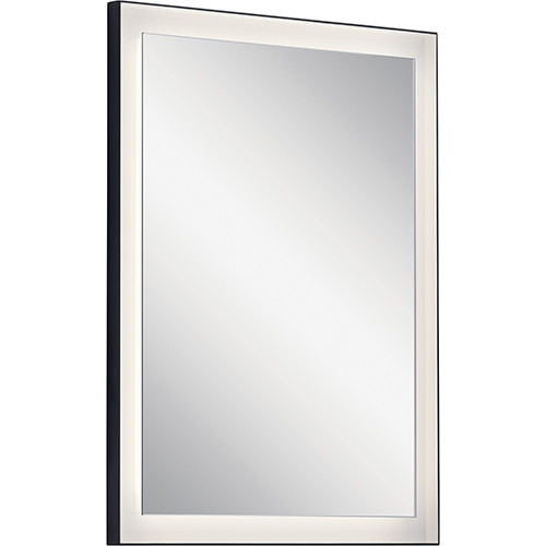 Ryame Matte Black 23-Inch LED Lighted Mirror