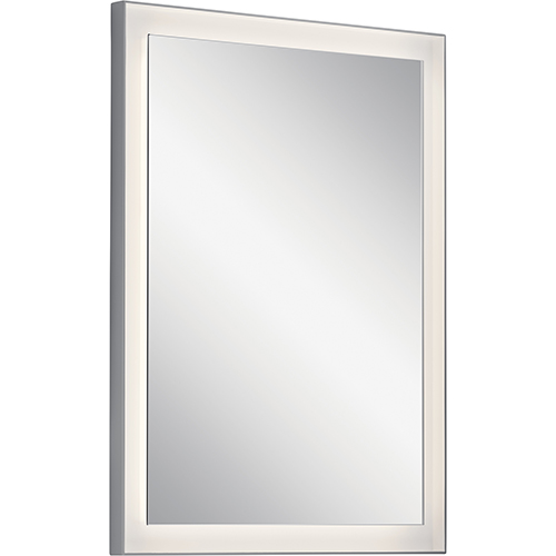 Ryame Silver Matte 23-Inch LED Lighted Mirror