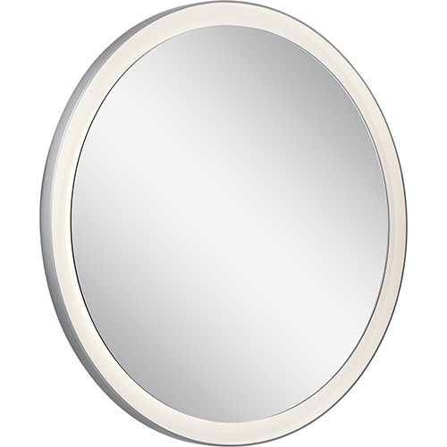 Elan Ryame Silver Matte 31-Inch LED Lighted Mirror