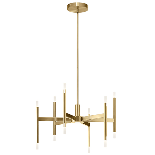 Kizette Champagne Gold 26-Inch Six-Light LED Chandelier