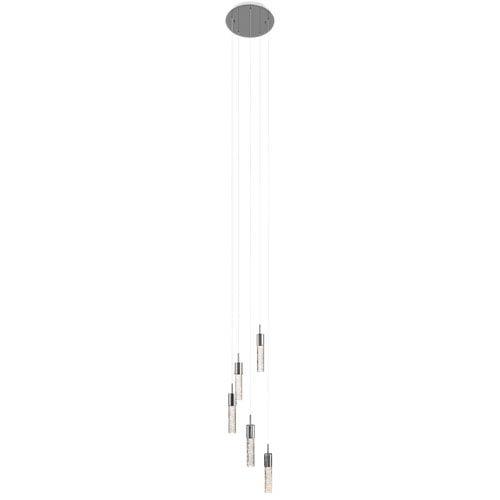 Elan Kristall Chrome Five-Light Cluster Pendant