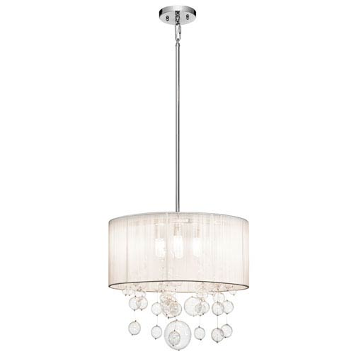Elan Imbuia Chrome Four-Light Cluster Pendant