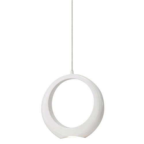 Elan Zuy White One-Light LED Pendant