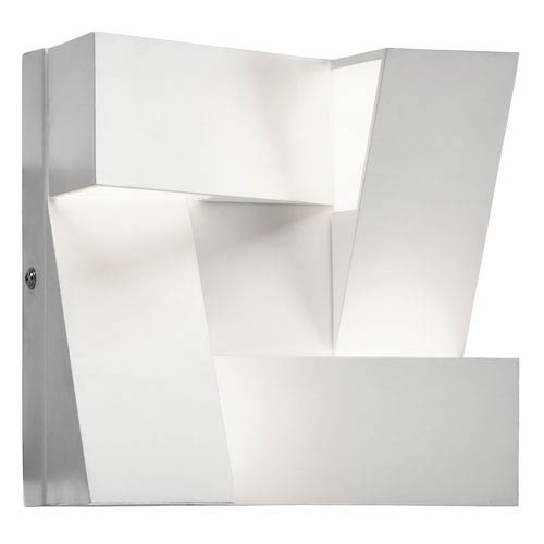 Elan Javan White Four-Light LED Wall Sconce
