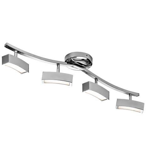 Elan Landon Chrome Four-Light LED Linear Semi-Flush Mount