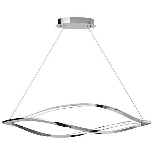 Meridian Chrome One-Light LED Linear Chandelier