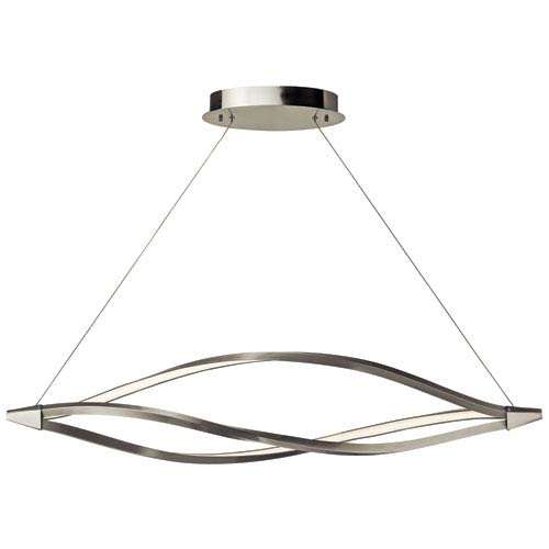 Elan Meridian Brushed Nickel One-Light LED Linear Chandelier