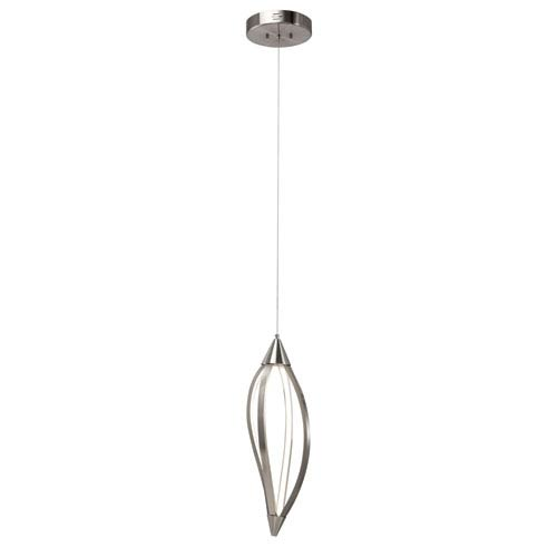 Elan Meridian Brushed Nickel One-Light LED Pendant