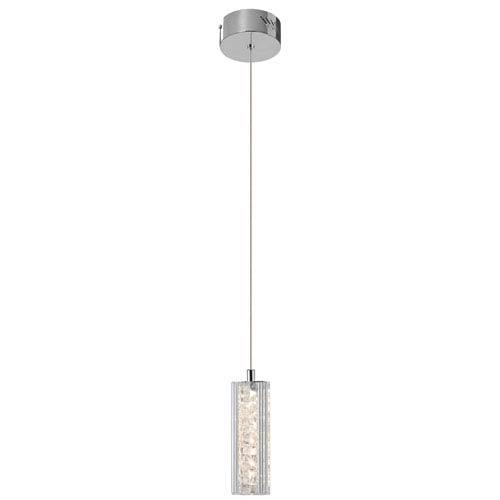 Neruda Chrome One-Light LED Mini Pendant